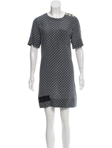 Marc Jacobs Printed Silk Dress None