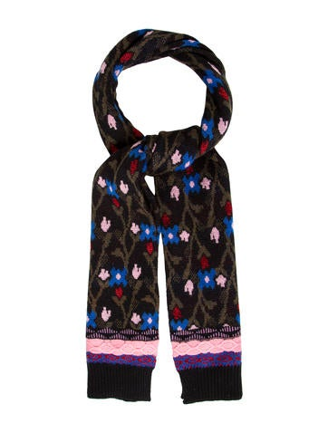 Marc Jacobs Floral Knit Scarf None