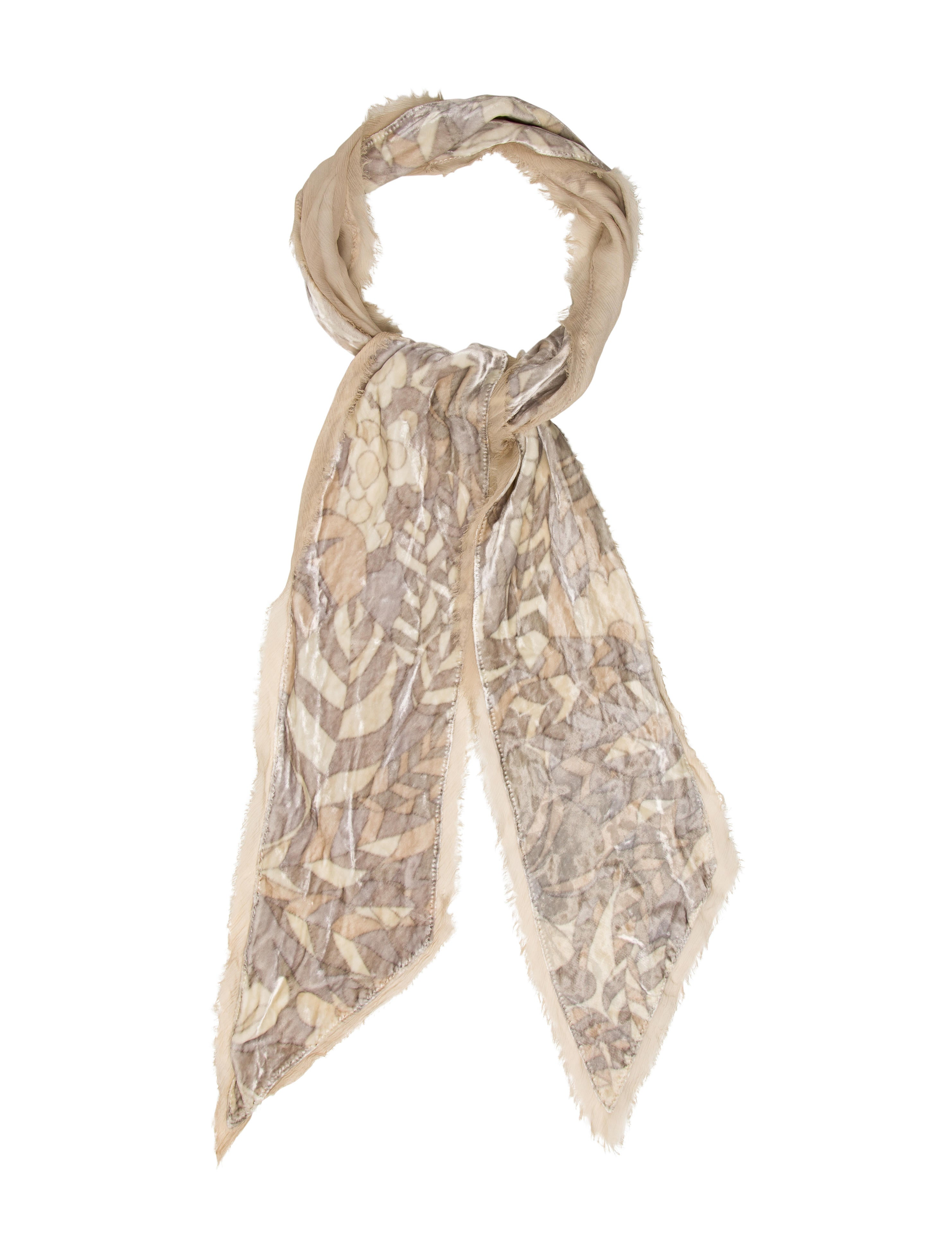 marc silk velvet scarf accessories mar46019