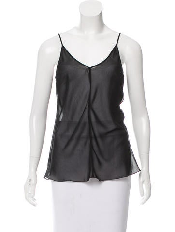 Marc Jacobs Sleeveless Chiffon Top None