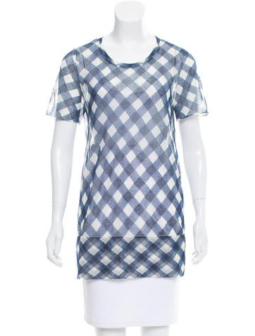 Marc Jacobs Gingham Knit Top None
