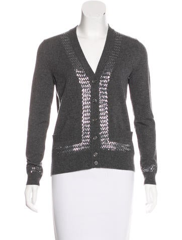 Marc Jacobs Cashmere Sequin Cardigan None
