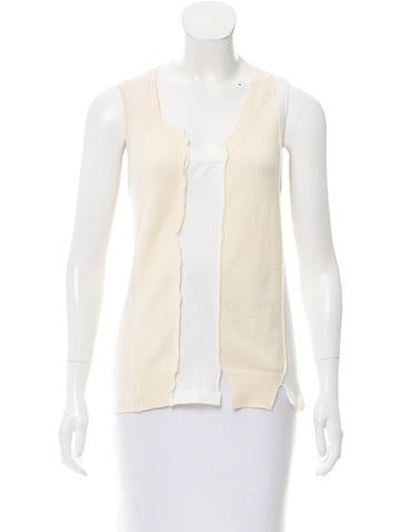 Marc Jacobs Sleeveless Knit Top None