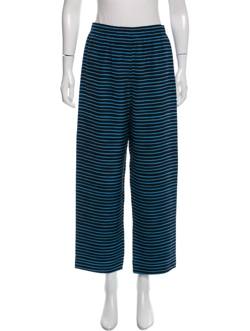 Marc Jacobs Silk Striped Pants Navy