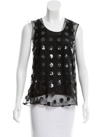 Marc Jacobs Sequined Mesh Top w/ Tags None