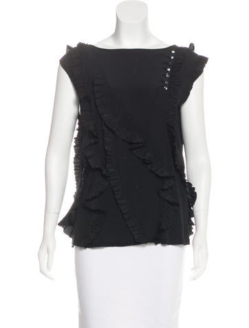 Marc Jacobs Ruffled Silk Blouse None
