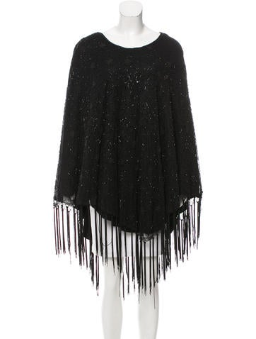 Marc Jacobs Embellished Knit Poncho None