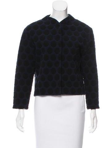 Marc Jacobs Pattern Knit Wool Jacket None