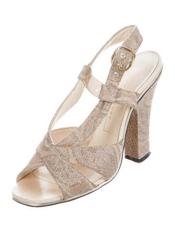 footaction online real for sale Marc Jacobs Brocade Crossover Sandals clearance 2015 huge surprise online NX3Nb