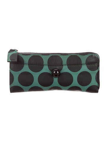 Marc Jacobs Leather Polka Dot Wallet None