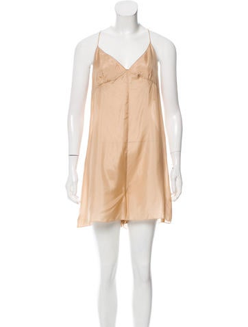 Marc Jacobs Sleeveless Silk Romper None