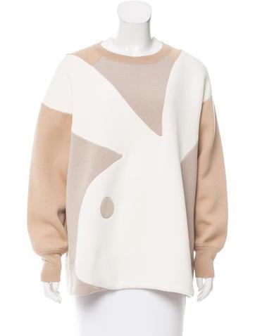Marc Jacobs Colorblock Wool-Blend Sweatshirt None