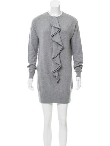 Marc Jacobs Ruffle-Accented Cashmere Dress None