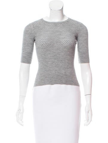Marc Jacobs Wool Short Sleeve Top None