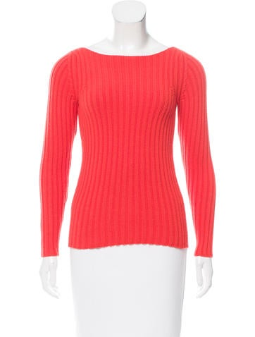 Marc Jacobs Long Sleeve Rib Knit Sweater None