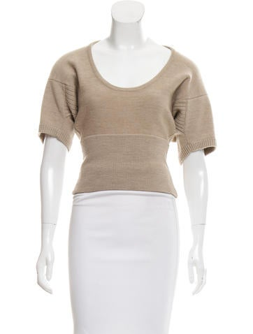 Marc Jacobs Knit Scoop Neck Top None