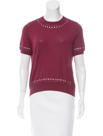 Marc Jacobs Wool Cutout Top None