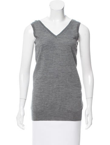 Marc Jacobs Wool Sleeveless Top None
