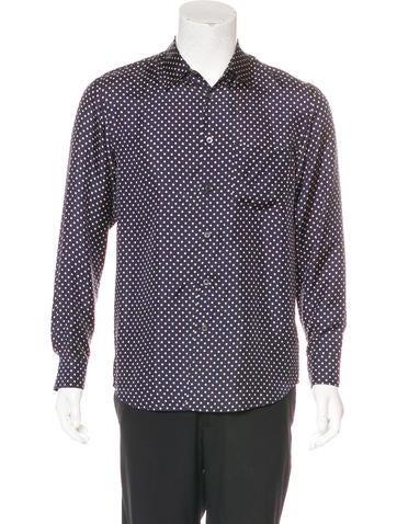 Marc Jacobs Silk Polka Dot Print Shirt None