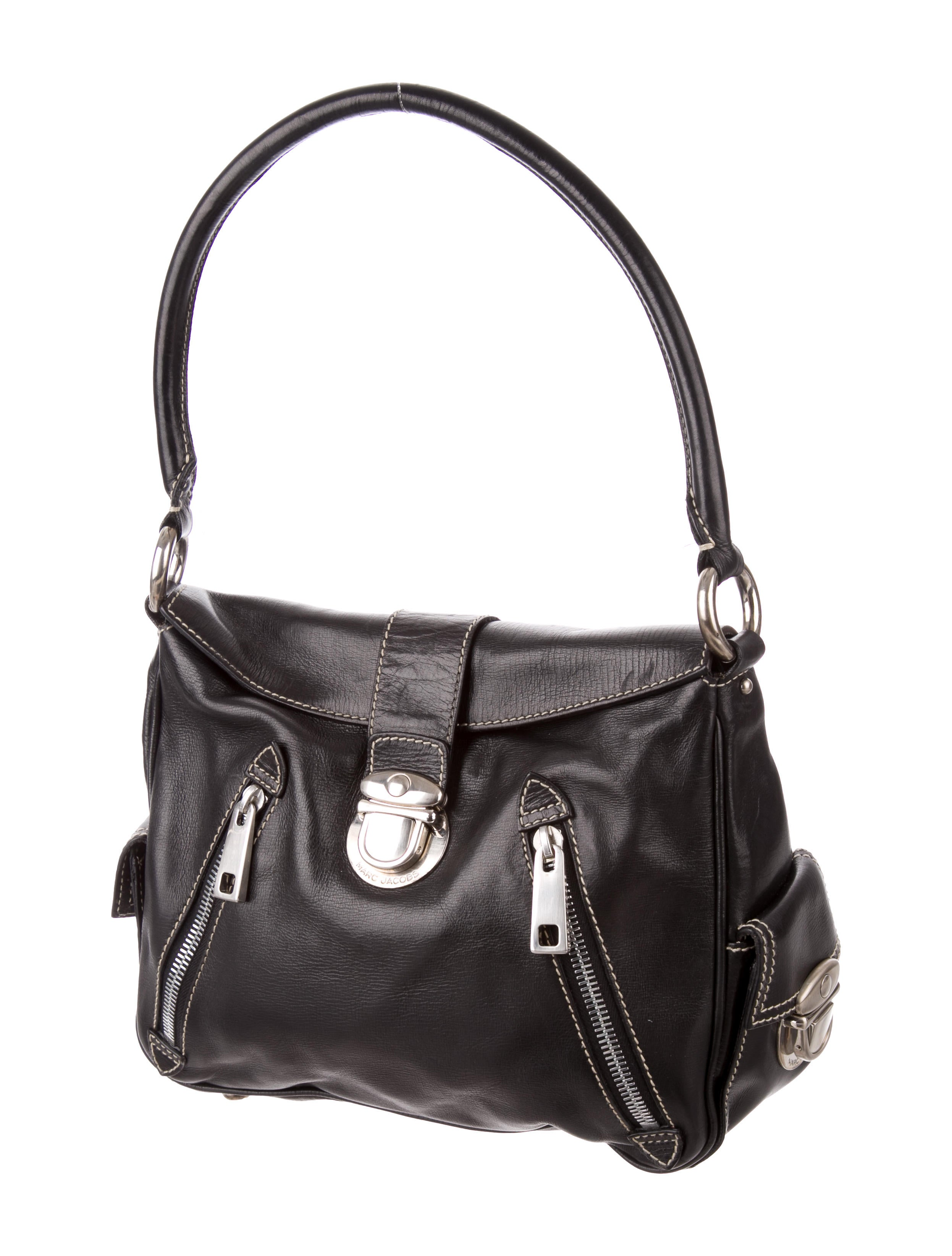 Marc Jacobs Hobo Laukku : Marc jacobs leather hobo handbags mar the realreal