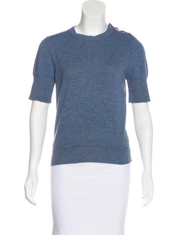 Marc Jacobs Knit Distressed Top None