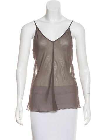 Marc Jacobs Sheer Sleeveless Top None