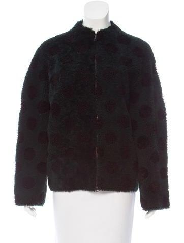 Marc Jacobs Polka Dot Shearling Jacket None