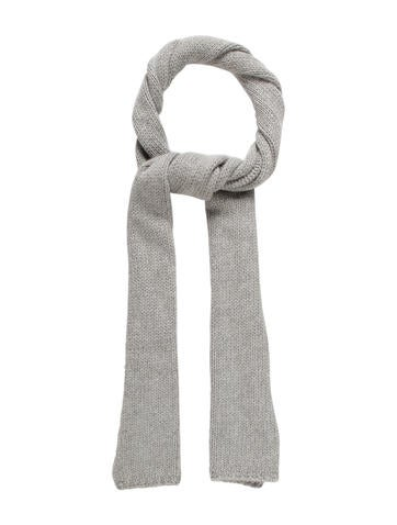 Marc Jacobs Cashmere Rib Knit Scarf None