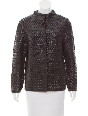 Marc Jacobs Coated Wool Jacket None