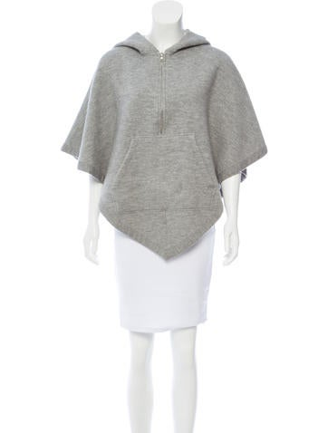 Marc Jacobs Hooded Knit Poncho None