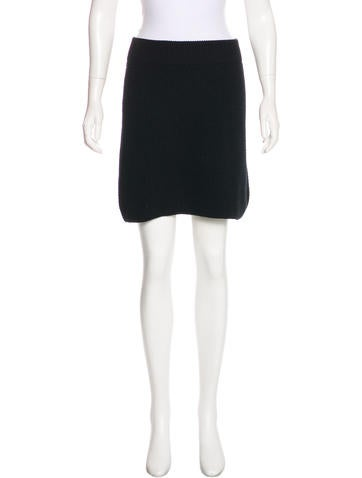 Marc Jacobs Wool & Cashmere Mini Skirt None
