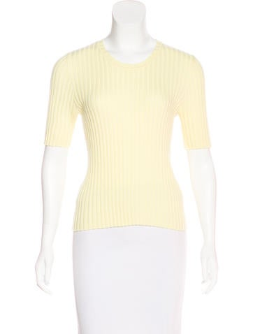 Marc Jacobs Cashmere-Blend Short Sleeve Top None
