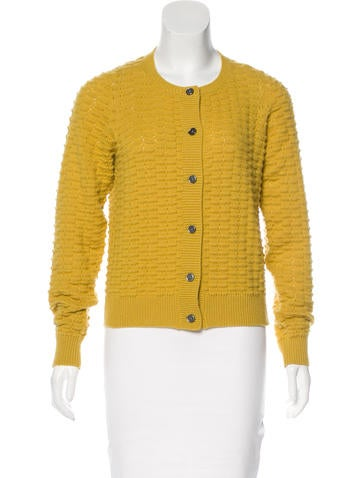 Marc Jacobs Cashmere Textured Cardigan None