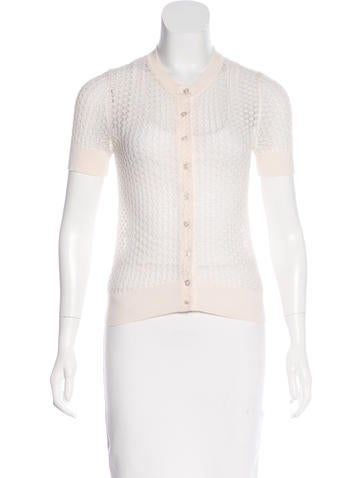 Marc Jacobs Open-Knit Wool Top None