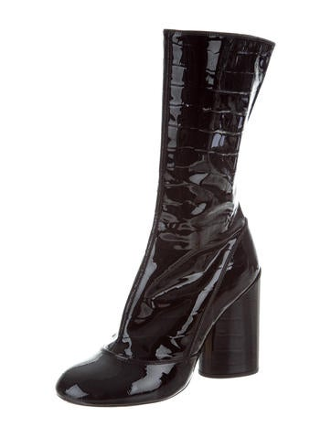 Marc Jacobs Patent Leather Mid-Calf Boots outlet footlocker pictures 2DhoRG