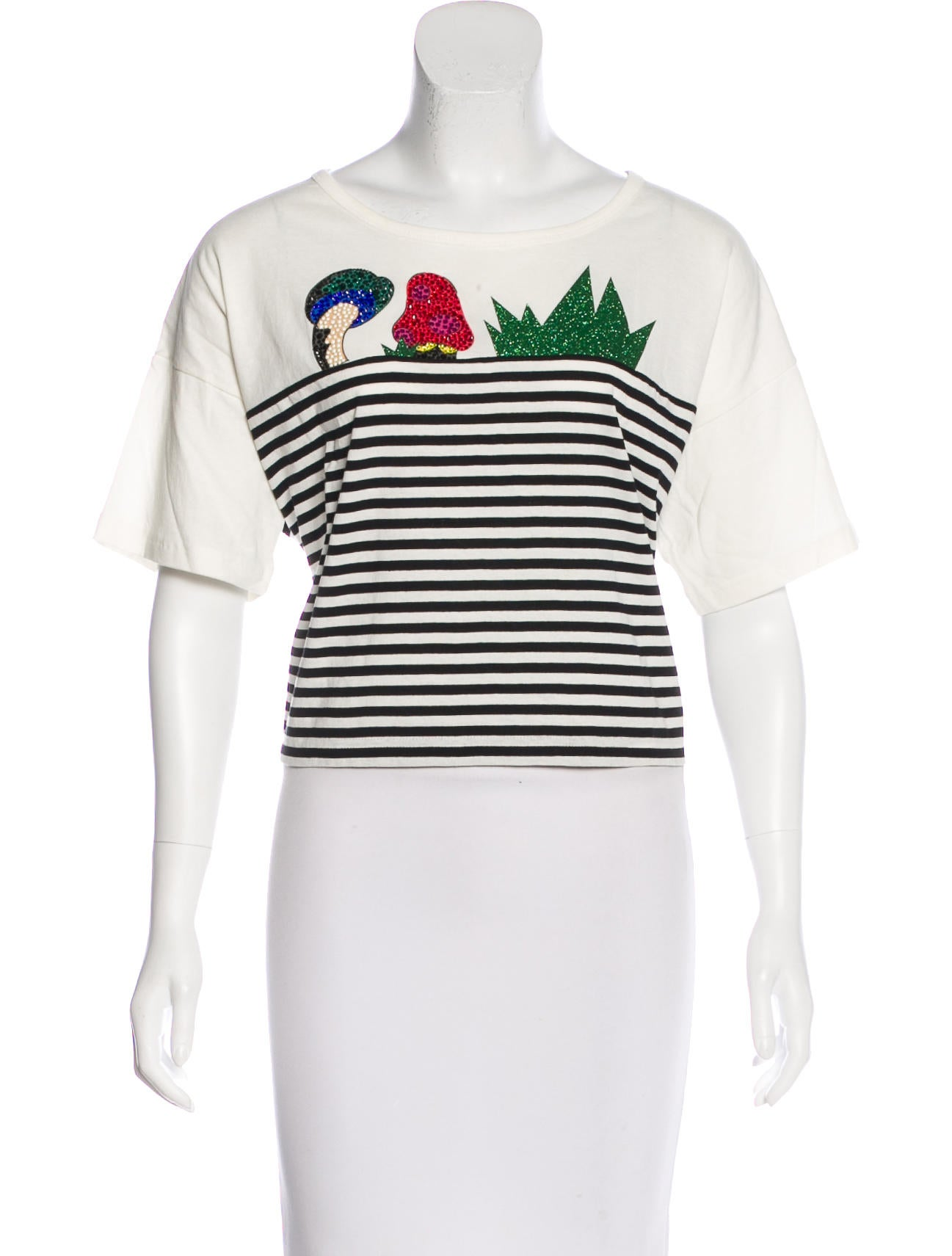 3aa55365 Marc Jacobs Striped Short Sleeve Top - Clothing - MAR50787   The ...