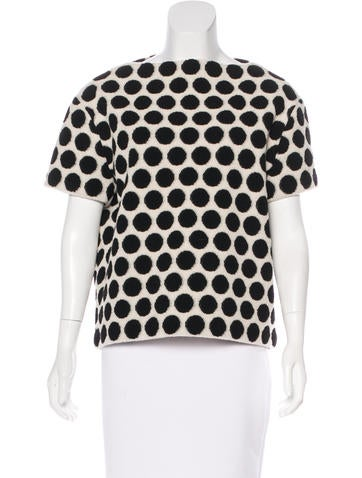 Marc Jacobs Wool Polka Dot Top None