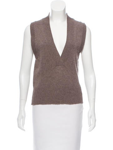 Marc Jacobs Sleeveless Wool Top None