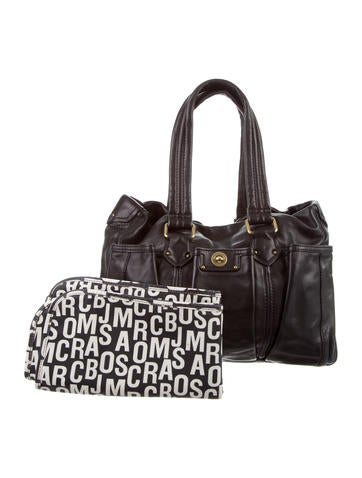 Marc Jacobs Leather Diaper Bag None