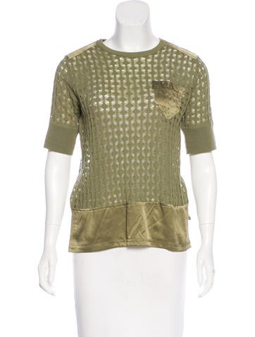 Marc Jacobs Wool & Cashmere Silk-Trimmed Top None
