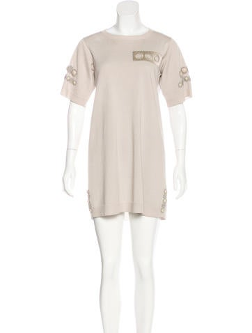 Marc Jacobs Embellished Mini Dress None