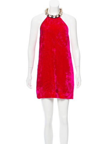Marc Jacobs Velvet Mini Dress None