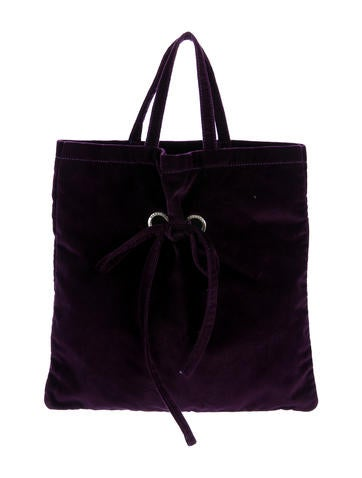 Marc Jacobs Bow-Accented Velvet Tote None