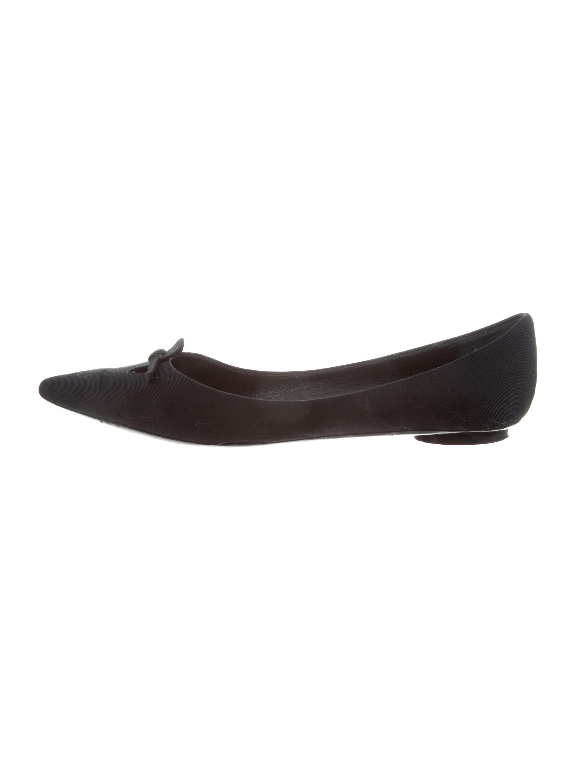 clearance find great Marc Jacobs Grosgrain Pointed-Toe Flats wide range of authentic cheap price L5fCYlW