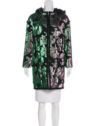Marc Jacobs Metallic Hooded Coat None