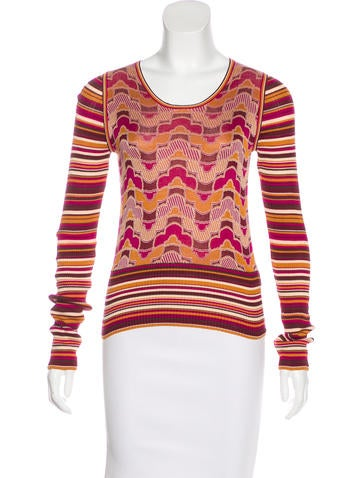 Marc Jacobs Silk Knit Top None