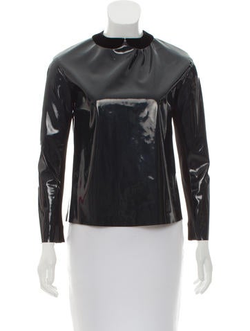 Marc Jacobs Vegan Patent Leather Top None