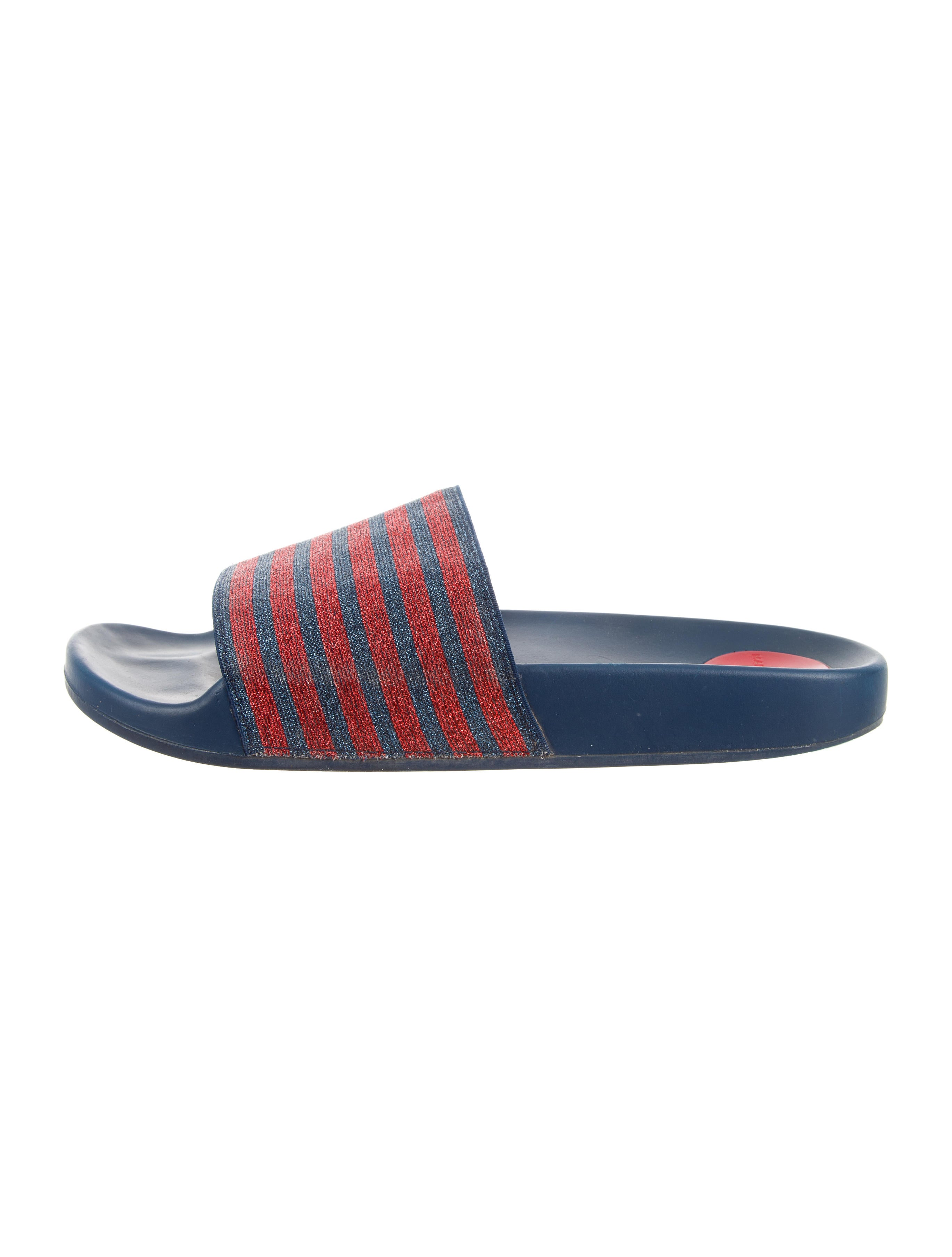 Marc Jacobs Striped Glitter Slide Sandals outlet browse reliable for sale huge surprise sale online aNL9LFeX