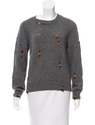 Marc Jacobs Embellished Wool & Cashmere Sweater None