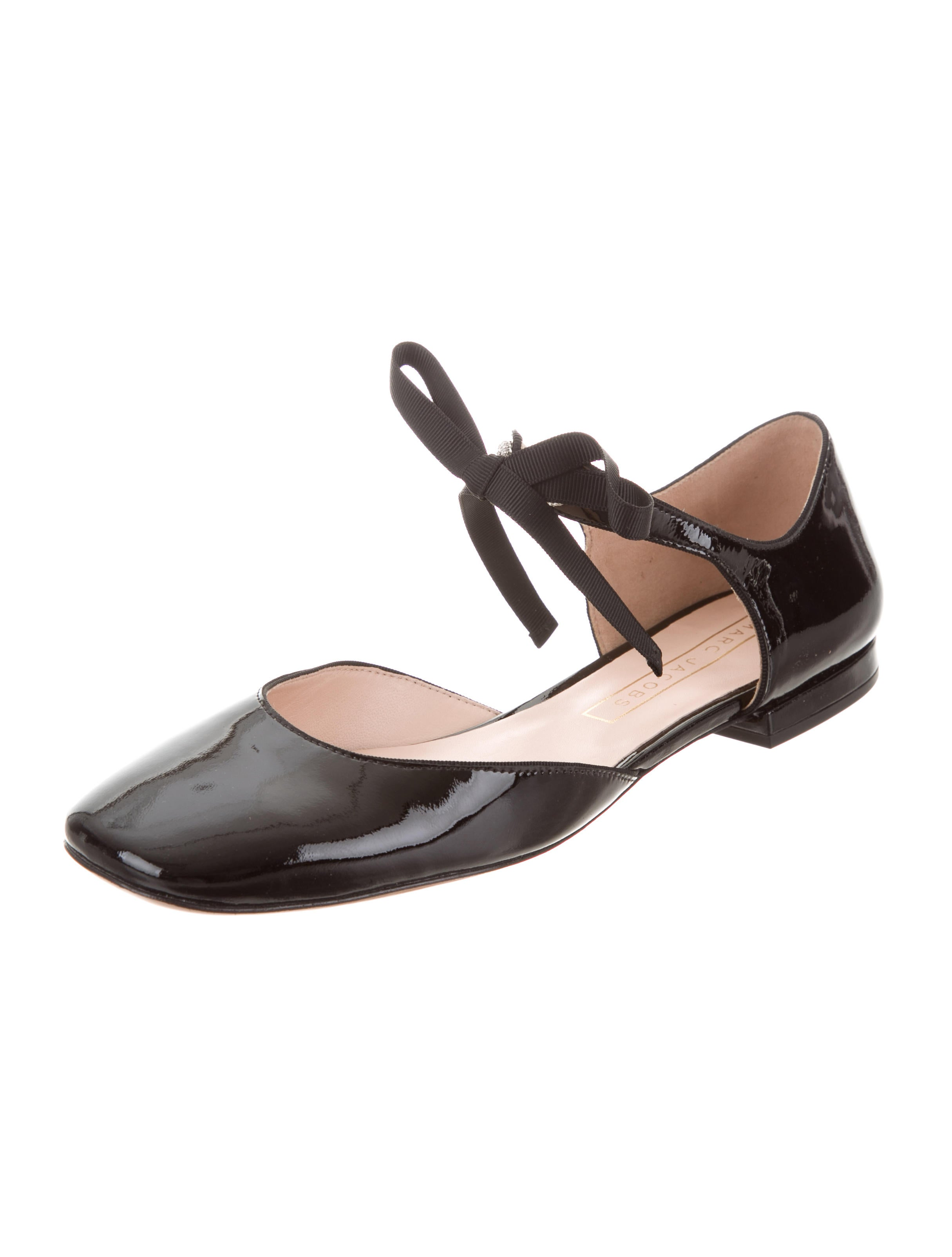 free shipping popular Marc Jacobs Patent Leather Square-Toe Flats cheap price original low shipping sale online 5vs4VM